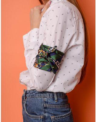Хустка на шию смугаста з малюнком ланцюга та якоря | 237985-20-XX