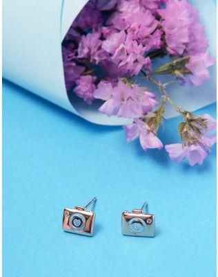 Сережки пусети з камінцями   236023-08-XX